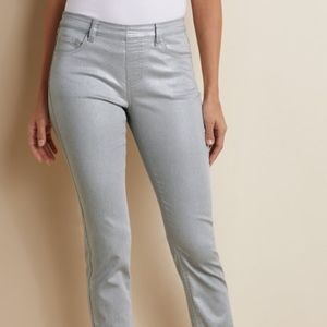 Soft Surroundings Petite Platinum Silver Pants